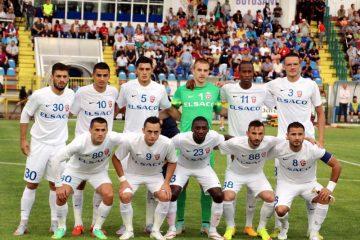 Fotbalistii de la FC Botosani pozeaza inaintea meciului