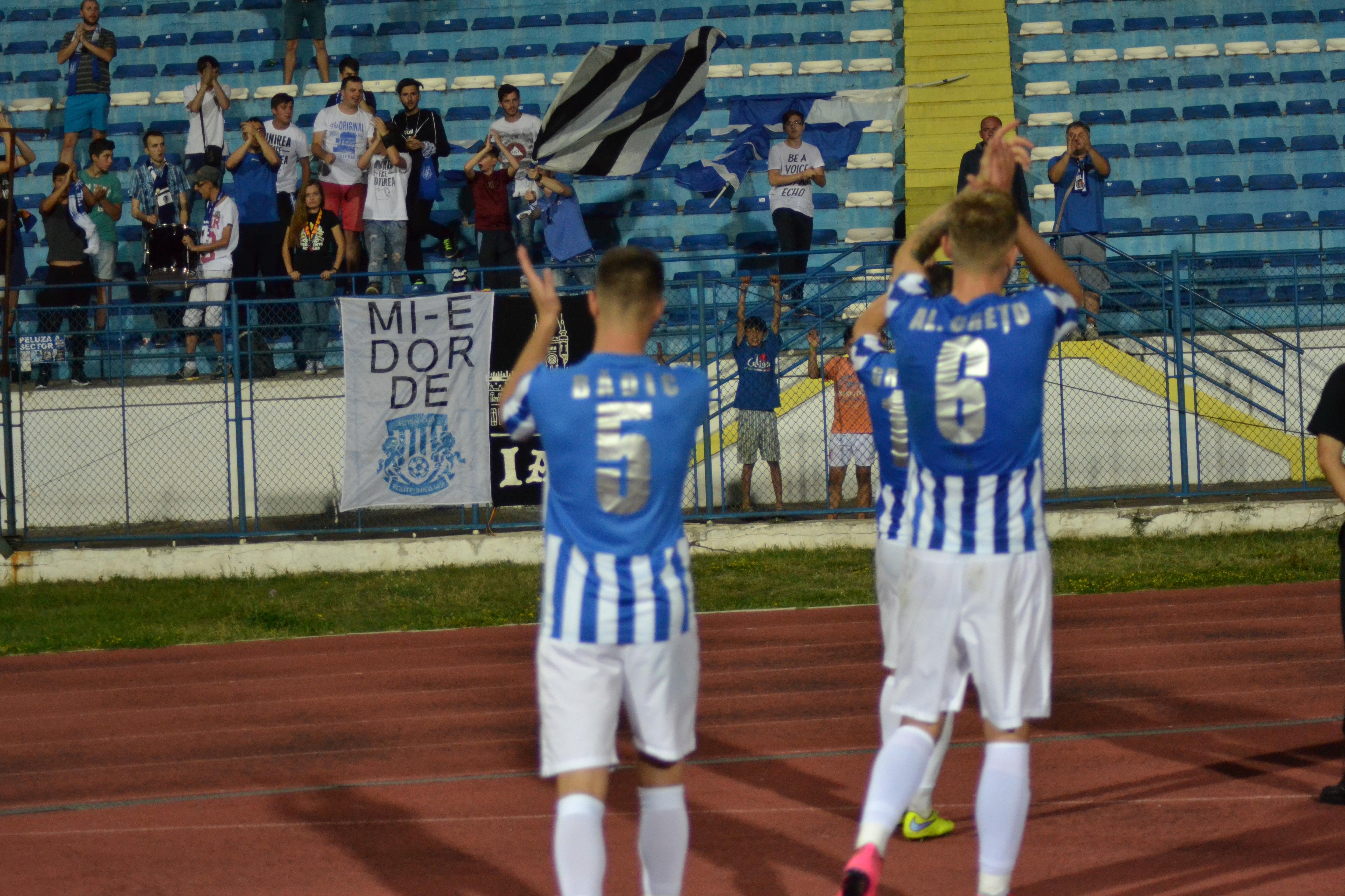 Crețu și Bădic după meciul cu Viitorul